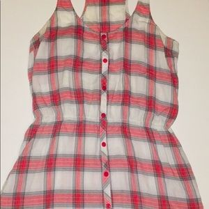 Volcom Pink plaid/flannel dress